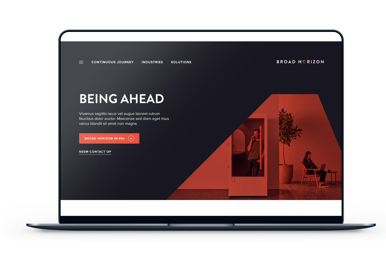 website Broad Horizon op laptop